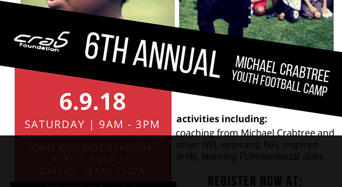 6th Annual Michael Crabtree Youth Camp